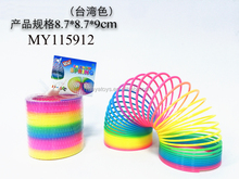 Slinky rainbow circle plastic spring toy bouncing rainbow circle toy 8.7*8.7*9 cm