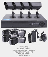 Factory price 4ch 1080p ahd kit cctv kit dvr 4 cameras security system