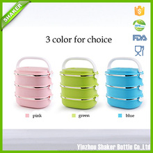 Shaker Stainless Steel Insulated Square Lunch Box Two Layer Insulation Square Boxes