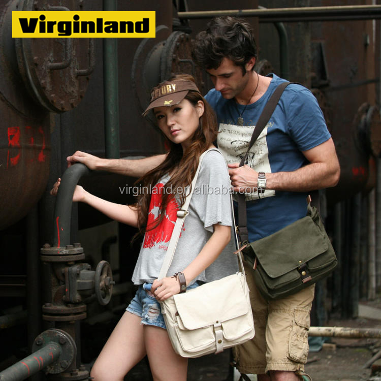 2371 Hot Selling Leisure Canvas One Shoulder One Side School Bag for Unisex
