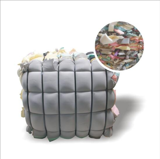 Waste and used scrap foam in bales