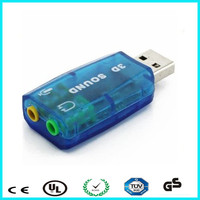 Support WIN 7 8 USB plugable external sound card 5.1