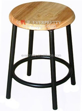 Stackable restaurant lab stools ,wooden metal restaurant stools,high quality high stool chairs