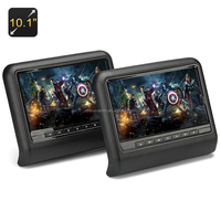 10.1 Inch Car Headrest Monitors + DVD Player - Region Free, Game Controler, SD Card Slot, Head Phone Jack