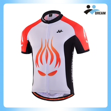 DREAM SPORT Custom new cheap sportswear type white and red color bycicle wear