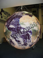 high definition large inflatable earth balloon beach ball, earth globe inflatables advertising