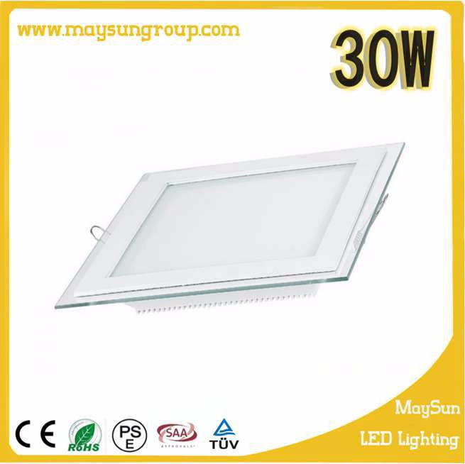 New design Glass led square panel light hot sale newest led glass panel lights high brightness Square and Round 6w 12w 15w 18w