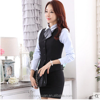 custom fashion women bank uniforms design/office ladies uniforms