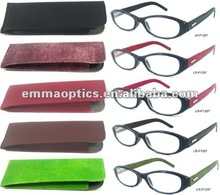 Made in China Thin Optics Rubber Reading Glasses with Colorful Package