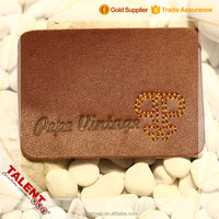 Custom Private Fashion Design Stitching Leather Patch Label For Garment