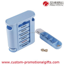 pill case travelling,portable slide pill box, 7 Days Pill Box