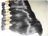 High Quality Best wholesale Price Human hair Bulk with straight natural color wave virgin remy bulk hair from Brazil