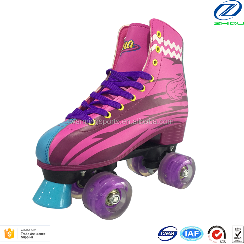 Factory Supply Quad Roller Skates PU Flashing Led Lights Wheels Patines Soy Luna 4 Ruedas