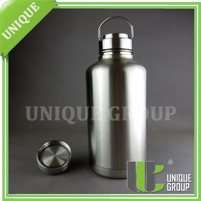 64OZ Stainless Steel Cover Sublimation Bottle Beer Growler