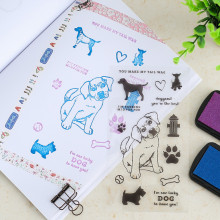 Transparent Stamp For DIY Scrapbooking/Card Making/ Decoration Supplies Pet series Lucky Dog Cute cat TPR clear stamp