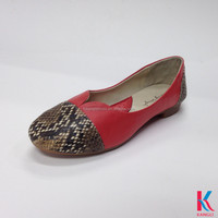 2015 fashion snake casual design high quality leather ladies wholesale china red flat shoes