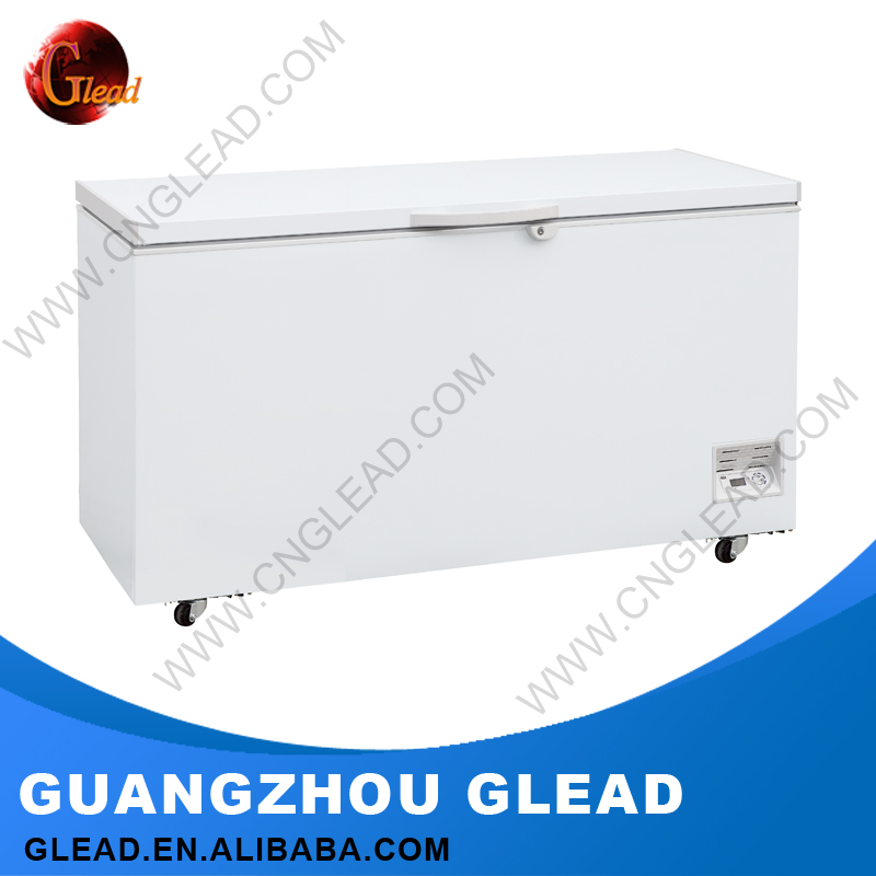 Heavy Duty Commercial glass top ice cream 12v dc deep freezer