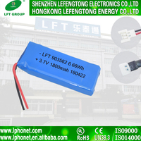 Wholesale lithium battery 3.7v 903562 li ion battery 1800mah for toy car
