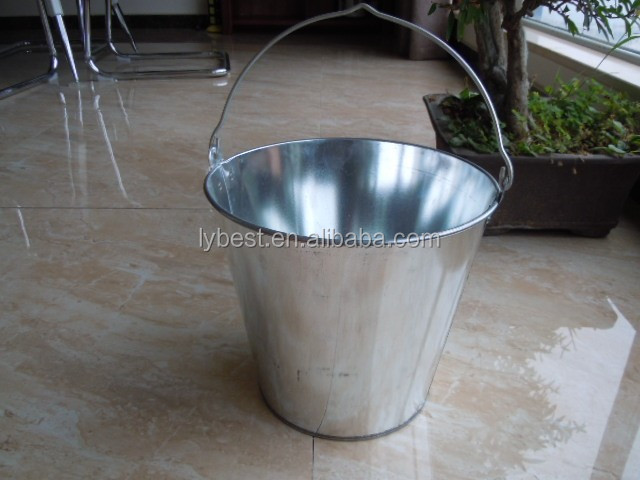 Hot selling cheap Galvanized silver Metal iron Bucket from China manufacturer with best quality