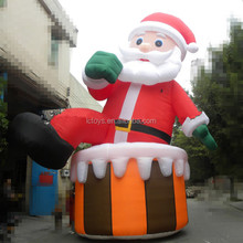 2017 hot sale outdoor christmas santa, inflatable western christmas decorations santa