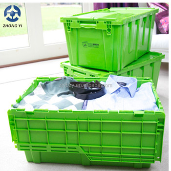 Plastic Boxes Storage with Lid Attached Plastic Box