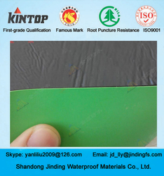 Kintop Green HDPE Self-adhesive Bitumen Waterproof Membrane for Building roofing/underground/bridge /tunnel/pool/parking