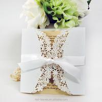 Handmade crafts invitations garden flower wedding invitation card