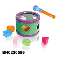 Baby Drum With Learning Blocks And Drumstick