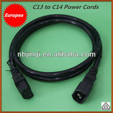 European C13 to C14 Power Cords (10A/125V)