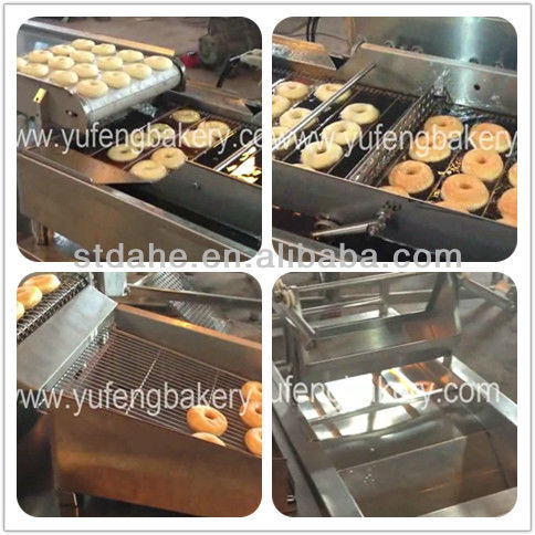 CE certificate Automatic Donut Robot Fryer With Glazer