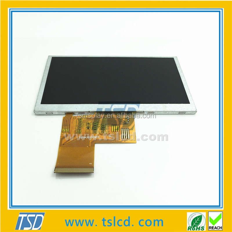 1x9 LED 4.3'' 480X272 tft lcd module with resistive touch screen