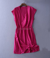 Slinky Sleeveless Ladies Bodycon Dress With Gold Belt normal ladies long frocks