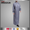 New Arrival Printing Arabian Baju Muslim Daffah Thobe Grey Cotton Maxi Abaya For Middle East Men