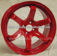 Rays Volk Racing TE37 Alloy Wheel Rims With Red Surface