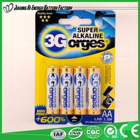 Top Quality Wholesale Dry Battery Lr6 Battery Aa/Lr6/Am3 1.5V Alkaline Battery