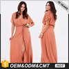 Wholesale low-cost short-sleeved long dress loose Muslim clothing