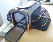 Jinwang Hot Selling Expandable Dog Carrier Two Side Fold Pet Carrier