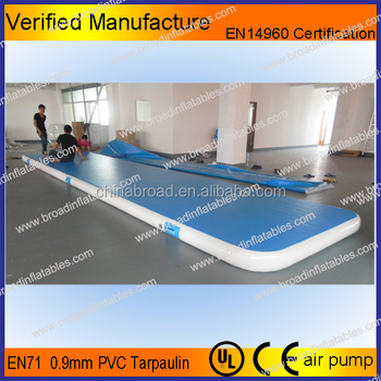 Outdoor Gym Equipment inflatable air tumble track, air inflatable  track australia, inflatable air gymnastics track