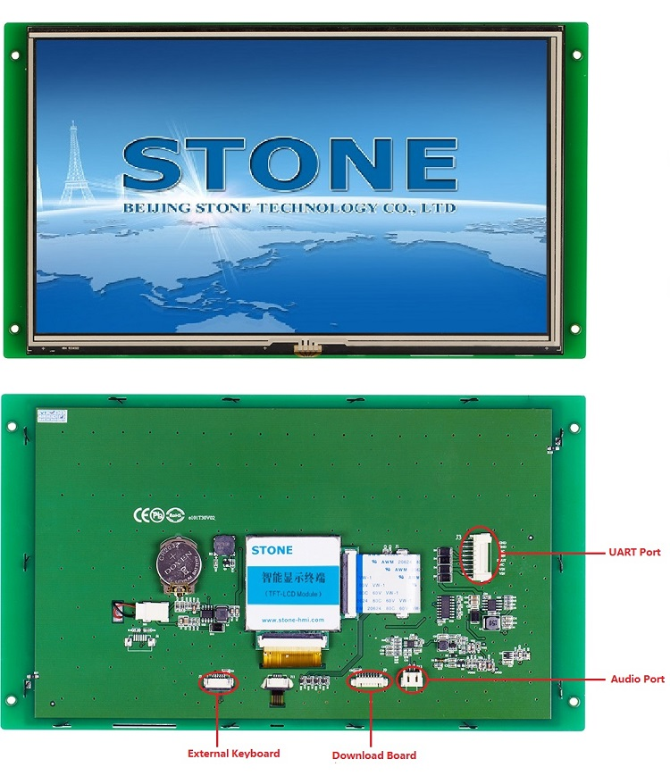 STONE 10 Inch Resistive Touch Screen Display RS232 to TTL Serial Interface Module