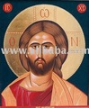 Handpainted wood icon of Jesus Christ