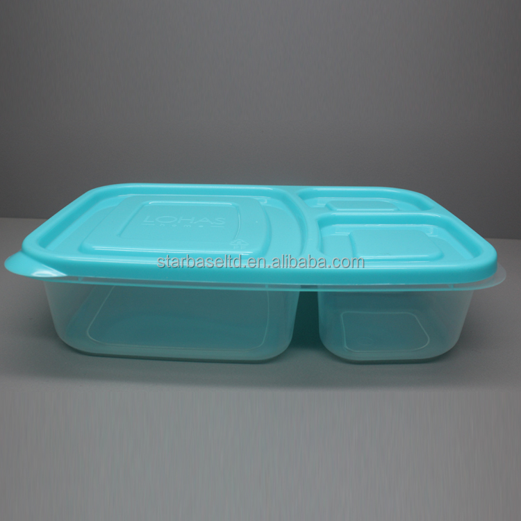 Custom printed food preservation cheap plastic lunch box