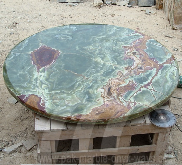 DARK GREEN ONYX TABLE TOP