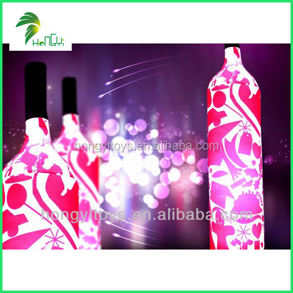 Inflatable Advertising Shaped LED Light Balloon / Inflatable Corona Bottle Balloon With LED Light