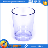 Hotel popularity-used 35ml plastic tea cup 1.25oz water container