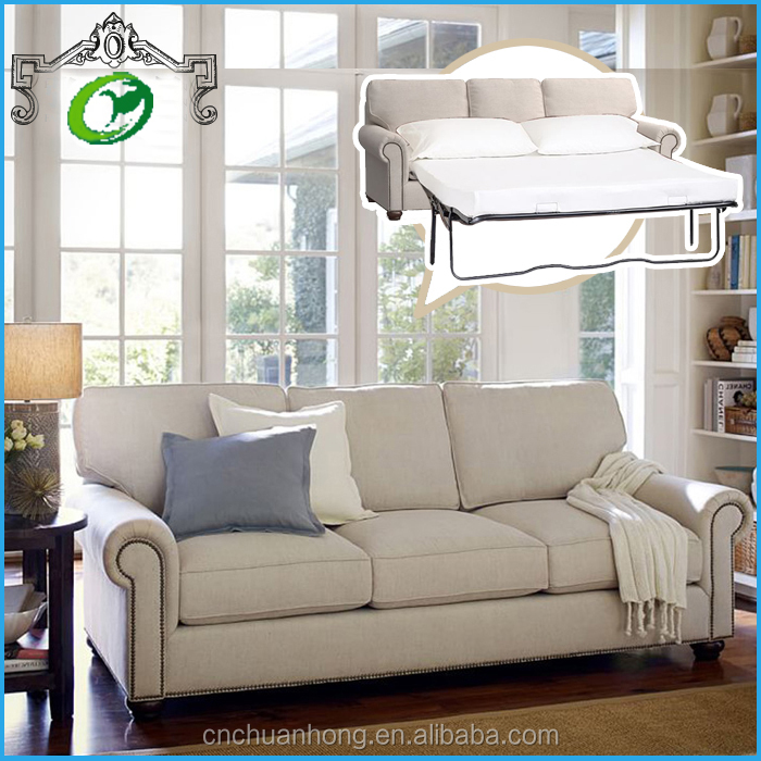 2016 Hot Sale European Style Chesterfield fabric Folding Sofa bed/Small size family sofa furniture