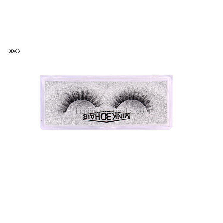 Hand-made false eye lashes real mink hair 3D mink eyelashes <strong>03</strong>