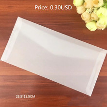 Semi-opaque Clear Transparent Tracing Paper Glassine Envelopes For VIP And Wedding Card