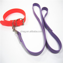 Luminous Flexible Pvc Dog Collar And Dog Leash Secure Your Dog Safe