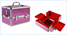 Rose red corner aluminum hairdressing carry cases instrument tool case JH531W