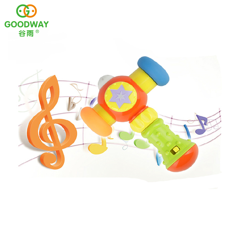 Cute Educational Kids Plastic Hammer Toy With Light And Music